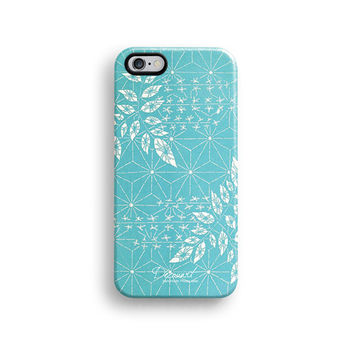 Snowflake floral iPhone 6 case, iPhone 6 Plus case S324