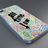 all time low lyric case IPhone 4/4s,5/5s,6, Samsung Galaxy S2,S3,S4