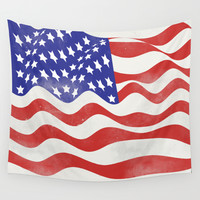 United States Flag - USA Wall Tapestry by All Is One
