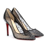 BODY STRASS 100 CRYSTAL-EMBELLISHED MESH PUMPS