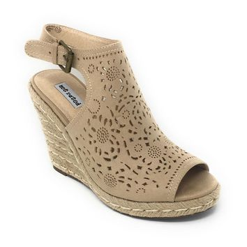 Not Rated Jobyna Nude Wedge Sandals