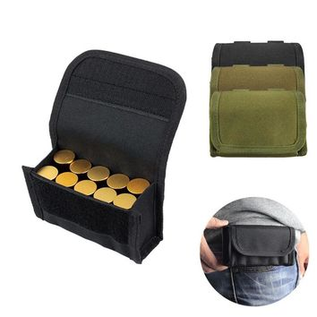 Molle Tactical 12 GA/20GA Shotgun Bullet Ammo Carrier 10 Round Bullet Mag Pouch Round Cartridge Holder W/ Belt