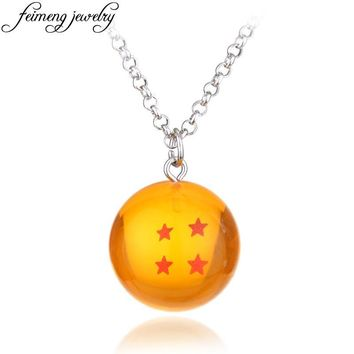 Classic Anime Dragon Ball Necklace 1-7 Stars Goku Dragonball Pendant Necklace For Women And Men Fashion Cosplay Accessories