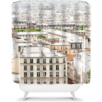 Paris shower curtain - bathroom decor
