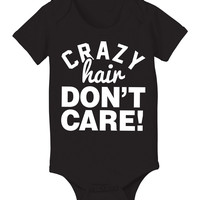 Black 'Crazy Hair Don't Care' Bodysuit - Infant | something special every day