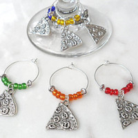 Pizza Wine Charms - Wine Glass Charm Set of 6 - Gift For Wine Lovers - Wine Glass Markers - Bridal Shower Gift - Housewarming Gifts