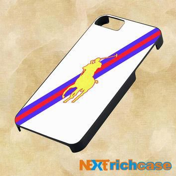 Polo Ralph Lauren Red Blue Stripe Logo For iPhone, iPod, iPad and Samsung Galaxy Case