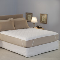 Restful Nights Water Bed Mattress Pad Supersingle-Size Mattress Pads
