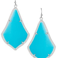 Alexandra Silver Earrings in Turquoise - Kendra Scott Jewelry