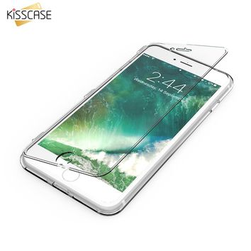 KISSCASE For iPhone 7 iPhone 6S Plus Case Clear Transparent Soft TPU Flip Phone Case For Samsung Galaxy S7 S6 Edge Cases Cover