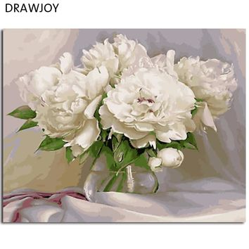 Modern Flower Framless Picture DIY Acrylic Oil Painting By Numbers Wall Art DIY Canvas Oil Painting Home Decor 40*50cm GX4870