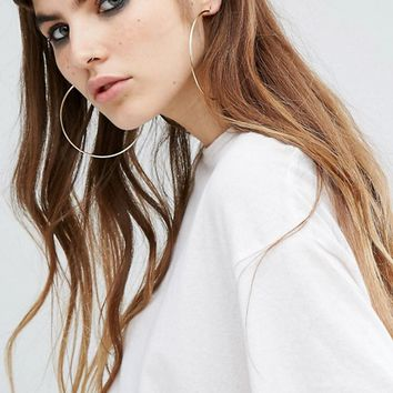 Reclaimed Vintage Oversized Hoop Earrings at asos.com