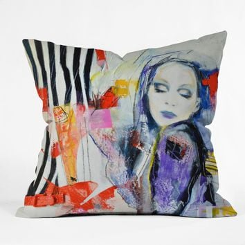 Lana Greben Upside Down Inside Out 1 Throw Pillow