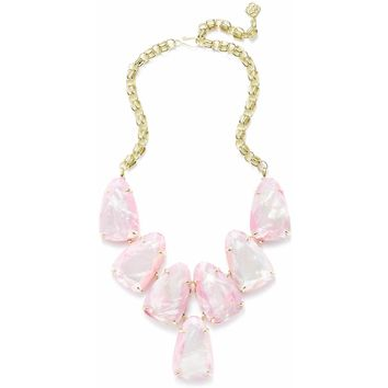Kendra Scott: Harlow Statement Necklace In Blush Pearl