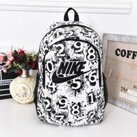 """simpleclothesv : """"Nike"""" Sport Hiking Backpack College School Travel Bag Day pack number White"""