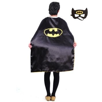 Teens superhero cape L110*W70 cm double sides character batman capes good Halloween performance party pretend cosplay costumes