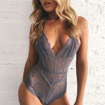 On Sale Sexy Cute Hot Deal Hot Sale Summer Women's Fashion Lace Spaghetti Strap One-piece Exotic Lingerie [11677684367]