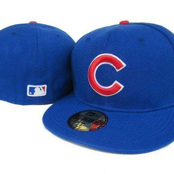 ESB8KY Chicago Cubs New Era 59FIFTY MLB Cap Blue-Red