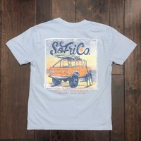 Southern Fried Cotton - Youth SS Morning Surf Tee - Chalky Blue