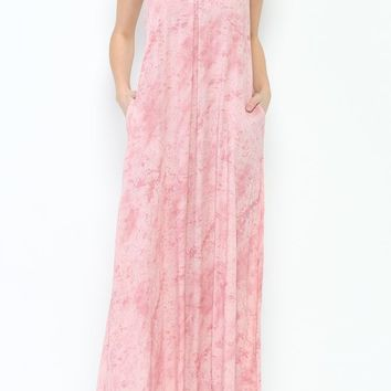 Blush Pink Maxi Dress Open Back