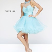 Sherri Hill 21227 Short Prom Dress with Collar