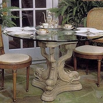 Dolphin Triple Dining Table Base 29H Home Decor