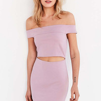 Silence + Noise Off-The-Shoulder Slashed Ponte Dress | Urban Outfitters
