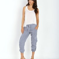 Bella Dahl Cargo Crop Pant Grey Wolf B3666-654 - Free Shipping at Largo Drive
