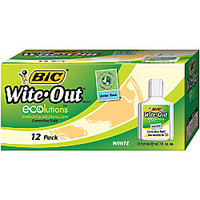 BIC Ecolutions Water Base Correction Fluid 22 mL White Box Of 12 by Office Depot & OfficeMax