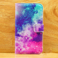 Shiny abstract Painting urpse Cover case Wallet For Iphone 4/4s