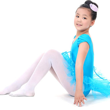 New New Child Girls Ballet Dancewear Dress Tranning Dance Skirt Tutu Dress Leotard 4 Size New
