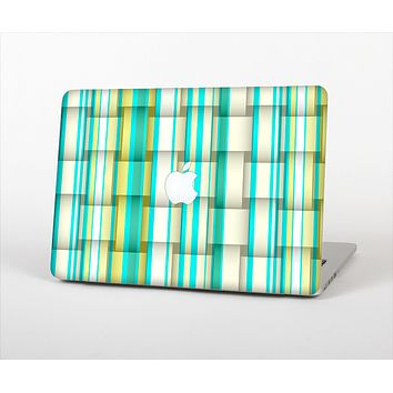 The Vivid Green and Yellow Woven Pattern Skin Set for the Apple MacBook Air 13""
