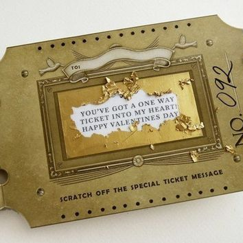 Custom Golden Ticket Scratch Off Card by crankbunny on Etsy