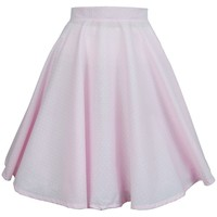 Pastel Pink Swing Skirt | Style Icon`s Closet