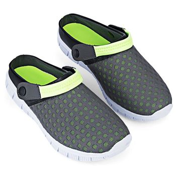 2016 New Arrival Hot Sale Men Summer Casual Garden Shoes Breathable Mesh Clogs Beach S