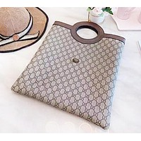 GUCCI New fashion more letter print leather couple handbag shoulder bag