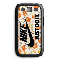 Flowers Nike Just Do It Samsung Galaxy S3 Case