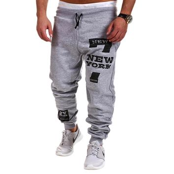 Men's Cargo Loose Jogger Sweat Pants Slim Fit