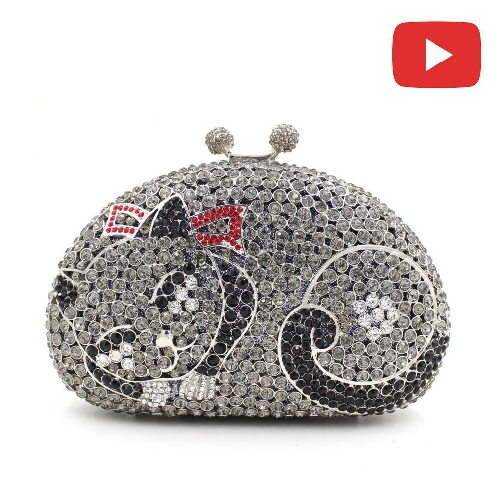ab0c23c47b Women Kisslock Cat Rhinestone prom Clutch.  115.99 from MILANBLOCKS