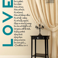 Love is Patient - Vinyl Wall Decal Sticker Art - Bible Wall Art