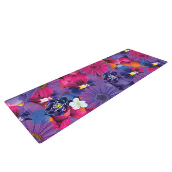 "Akwaflorell ""Find the Tiger"" Purple Pink Yoga Mat"
