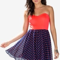Carlie Dot Flare Dress