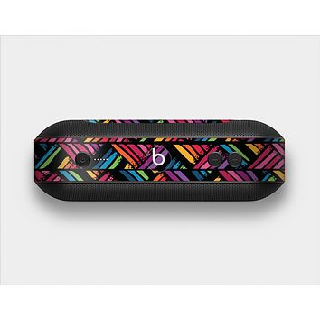 The Abstract Zig Zag Color Pattern Skin Set for the Beats Pill Plus