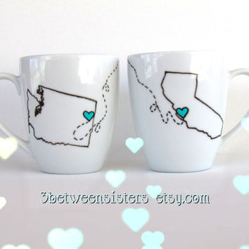 Long distance friendship mugs SPECIAL REQUEST