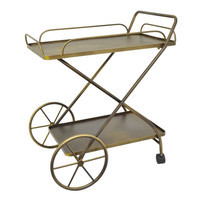 Smart Metal Rolling Bar Cart