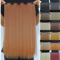 50g 20inch hair extension style cosplay straight clip in extensions