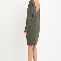 V-Back Sweater Dress