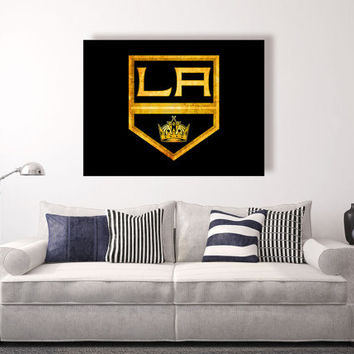 Los Angeles Kings vintage style Canvas Print, Wall Art, Wall Decor, Vintage, Grunge