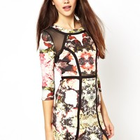 Panelled Dress in Crystal Vision Print