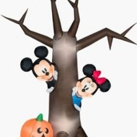 Halloween Disney Mickey Mouse Minnie Peek a Boo Tree Inflatable Airblown Gemmy